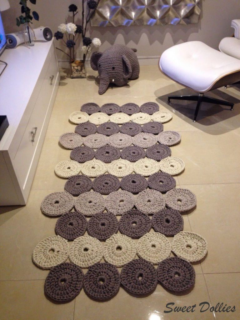 alfombras de ganchillo paso a paso