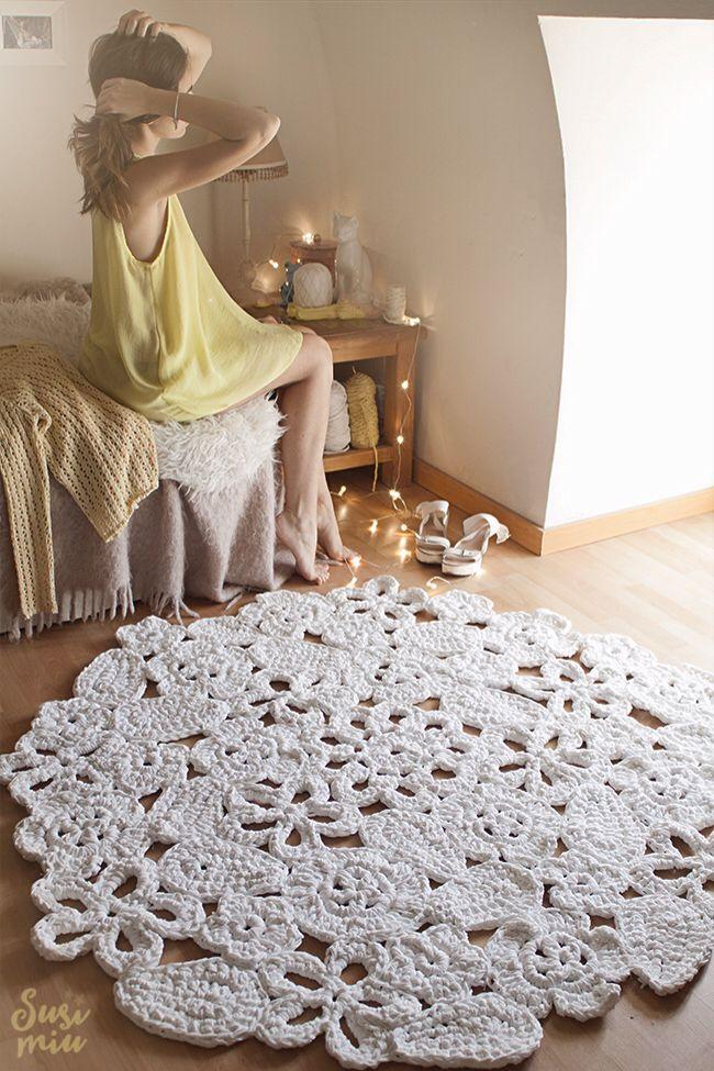 alfombras de ganchillo patrones