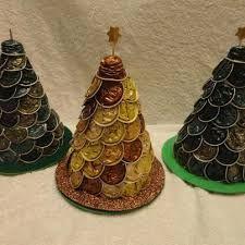 arbol de navidad con capsulas de cafe