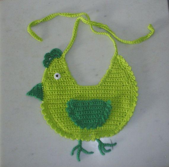 baberos de crochet de animales