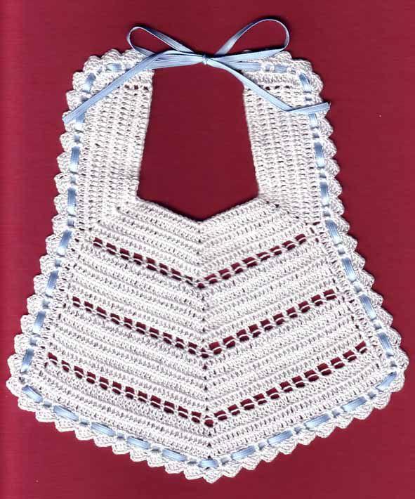 baberos de crochet para bebes