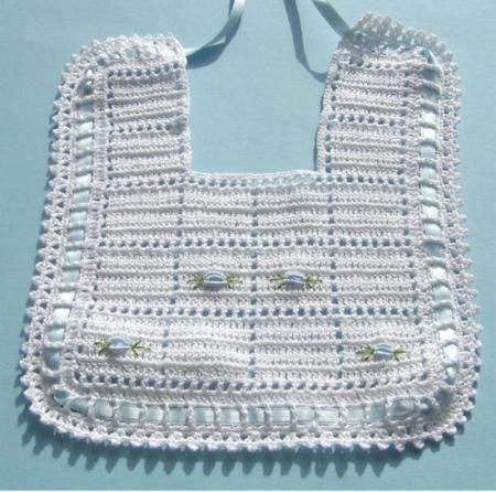 baberos de crochet patrones