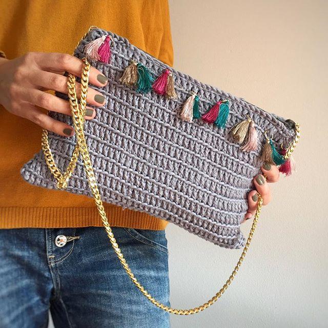 bolsos a crochet de fiesta
