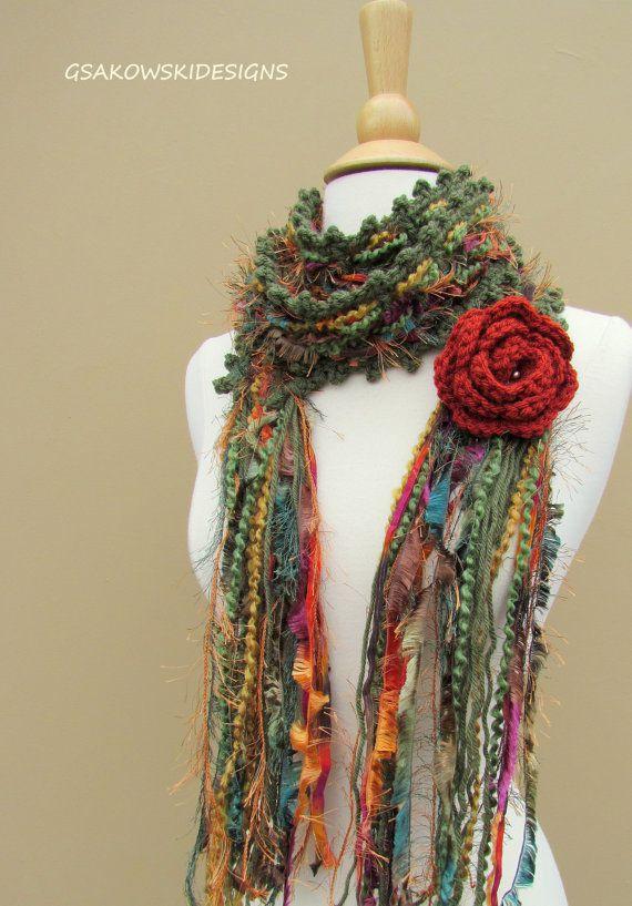 bonita bufanda a crochet
