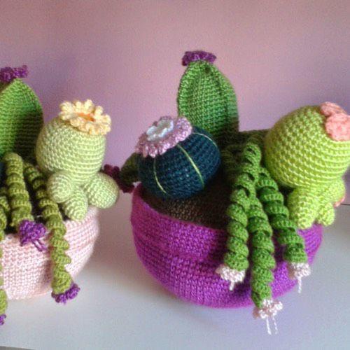 cactus crochet alfiletero