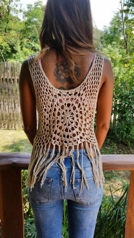 chaleco crochet abierto