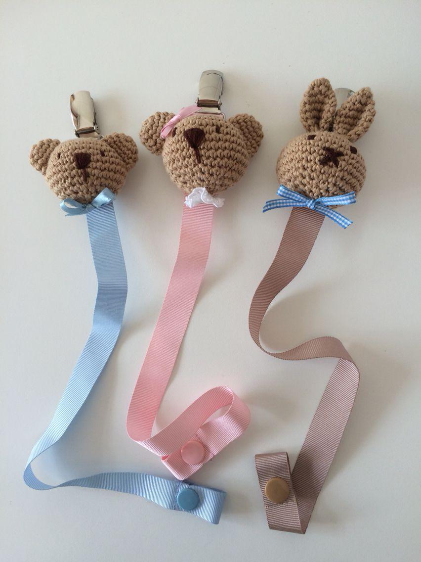 chupetes de ganchillo para bebes