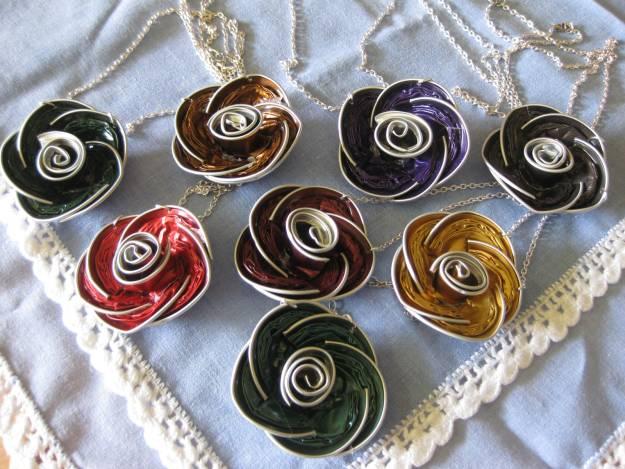 colgantes de rosas nespresso