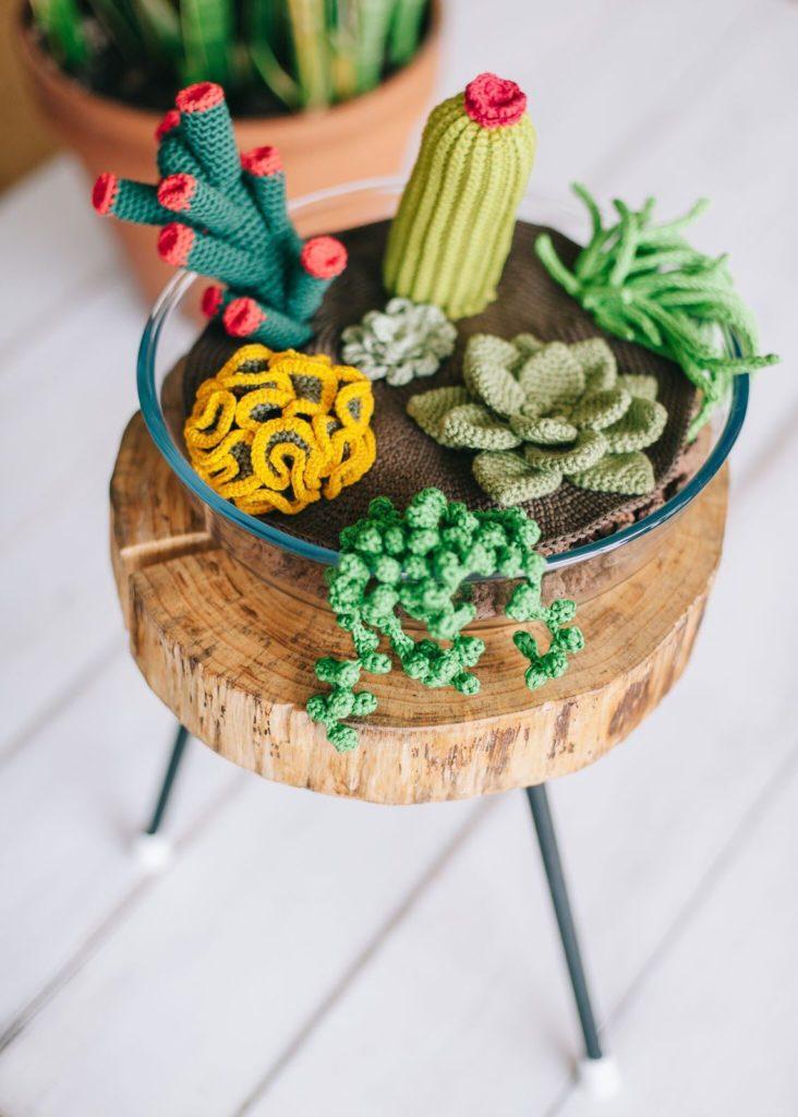 como se hace un cactus de ganchillo