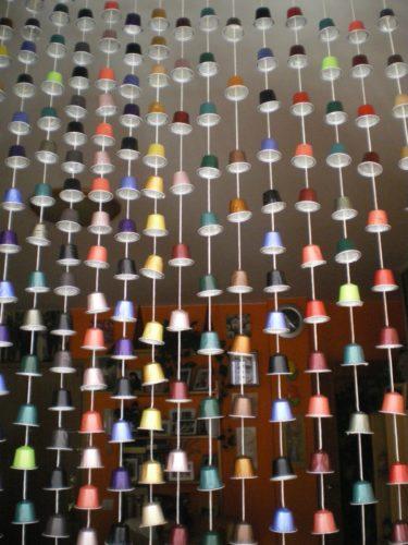 cortina reciclada nespresso