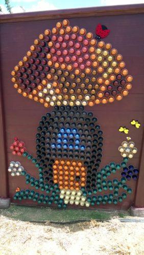 cuadro con capsulas nespresso