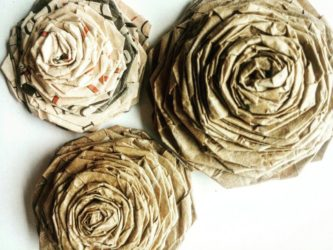 16 ideas sencillas de flores de papel kraft