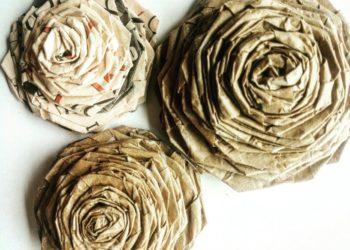 16 ideas sencillas de flores de papel kraft