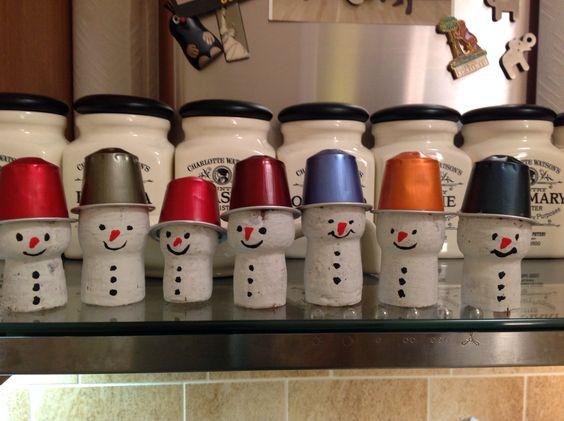 muñeco de nieve con capsulas nespresso