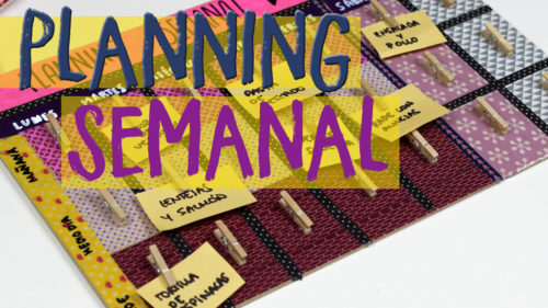 ¡Agenda planificador semanal!