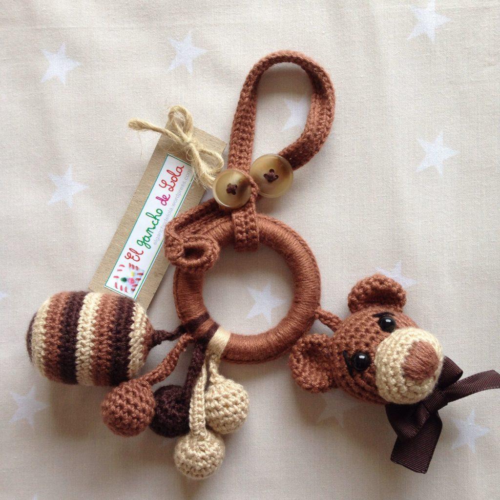 porta chupetes de crochet