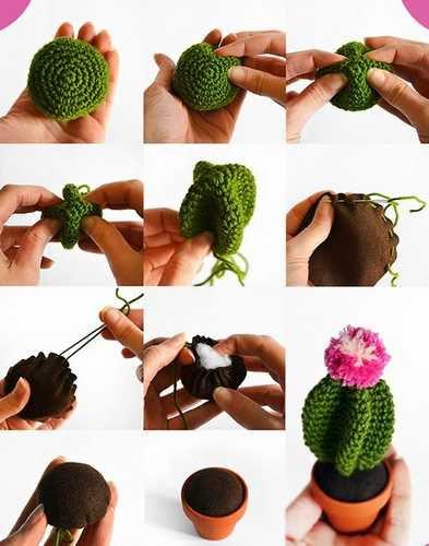 tutorial de cactus de ganchillo