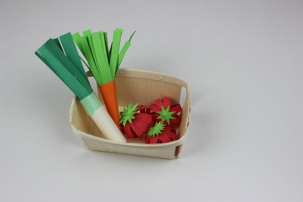 verduras con papel