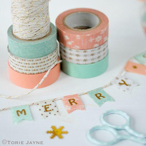 banderillas con washi tape para celebraciones