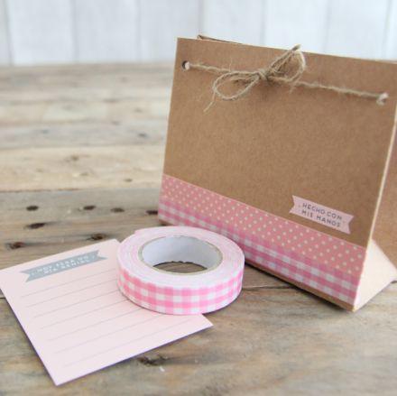 bolsitas de regalo con cinta washitape