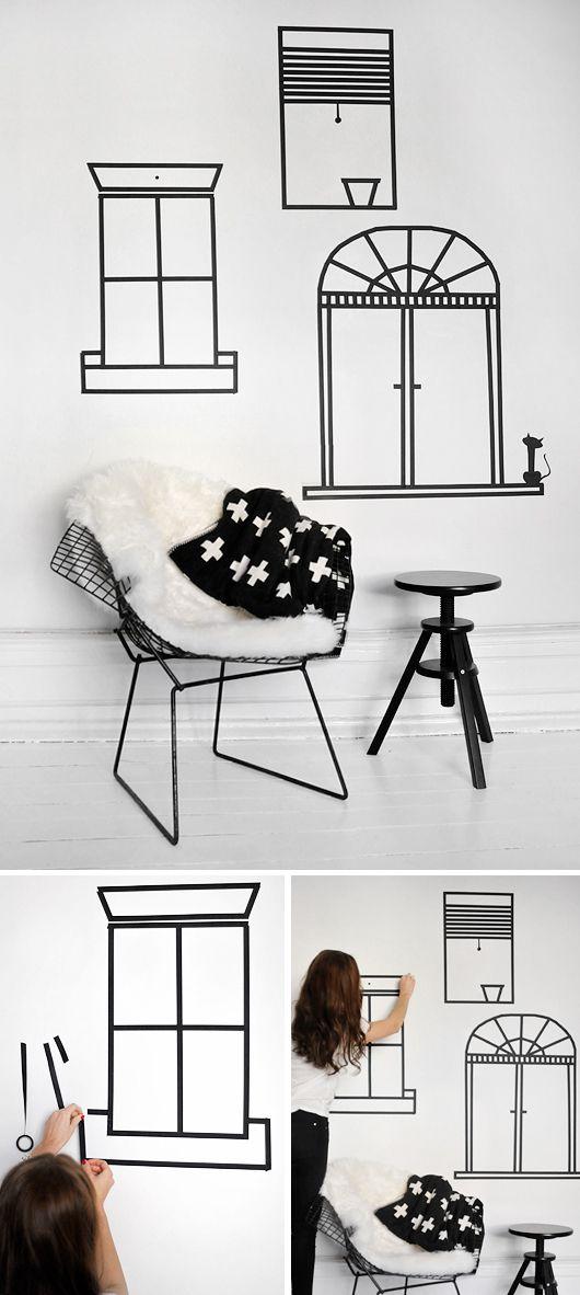 como decorar paredes utilizando cintas washi