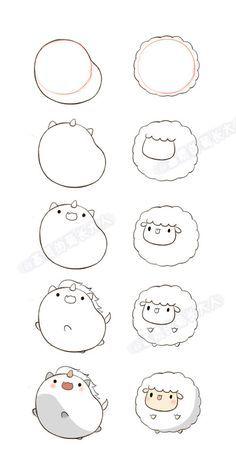 como hacer dibujos kawaii