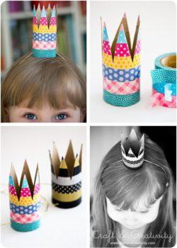 corona infantil con cintas washi