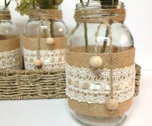 decoracio i manualitats amb pots de vidre