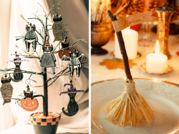 decoració de taules per halloween