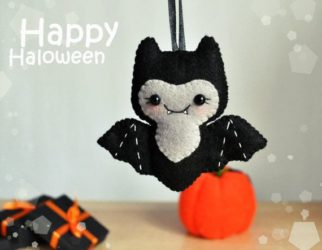 20 ideas de manualidades con fieltro de halloween