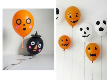 manualidades con globos de halloween