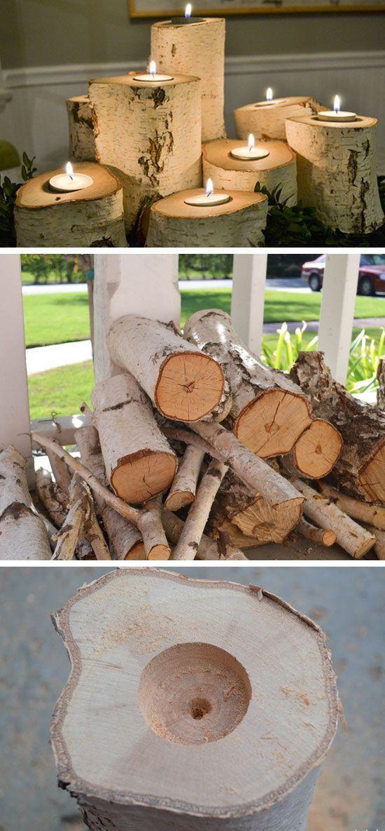 manualidades con troncos para personas mayores