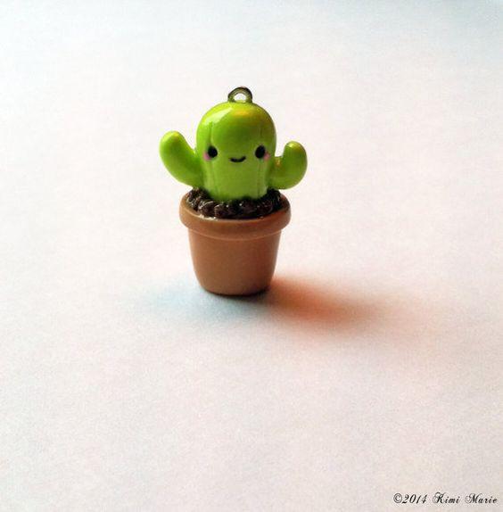 manualidades de cactus kawaii con fimo