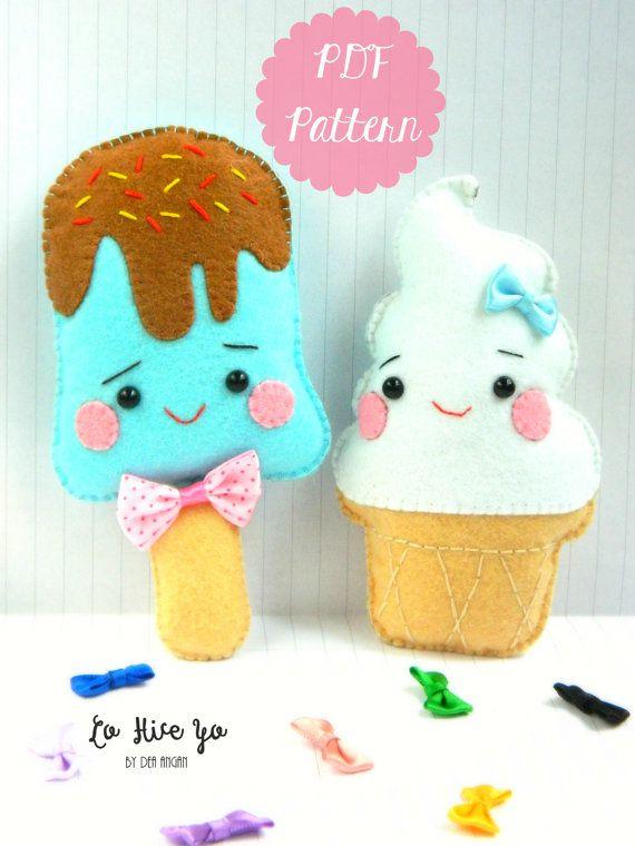 manualidades kawaii de helados