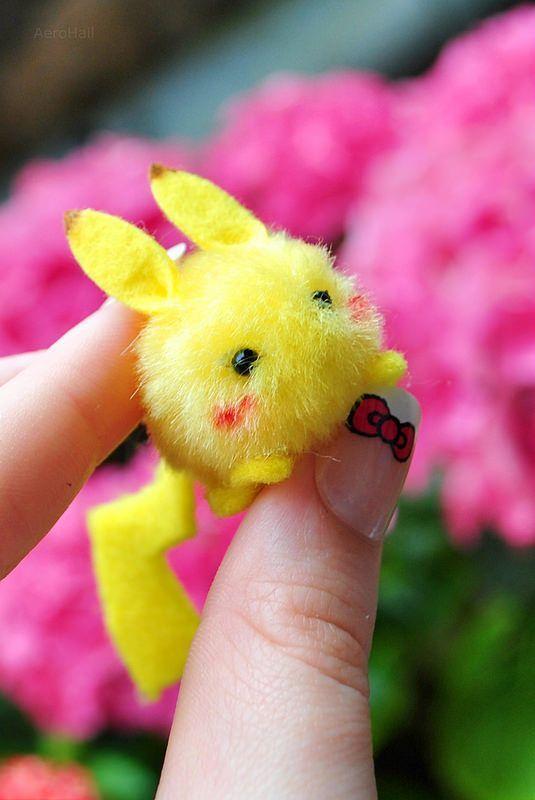 manualidades kawaii de pikachu