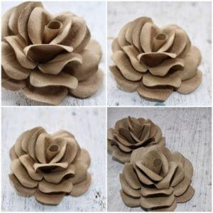 manualitats de flors reciclades