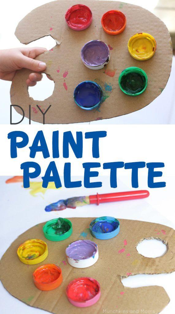 manualitats de reciclatge de colors