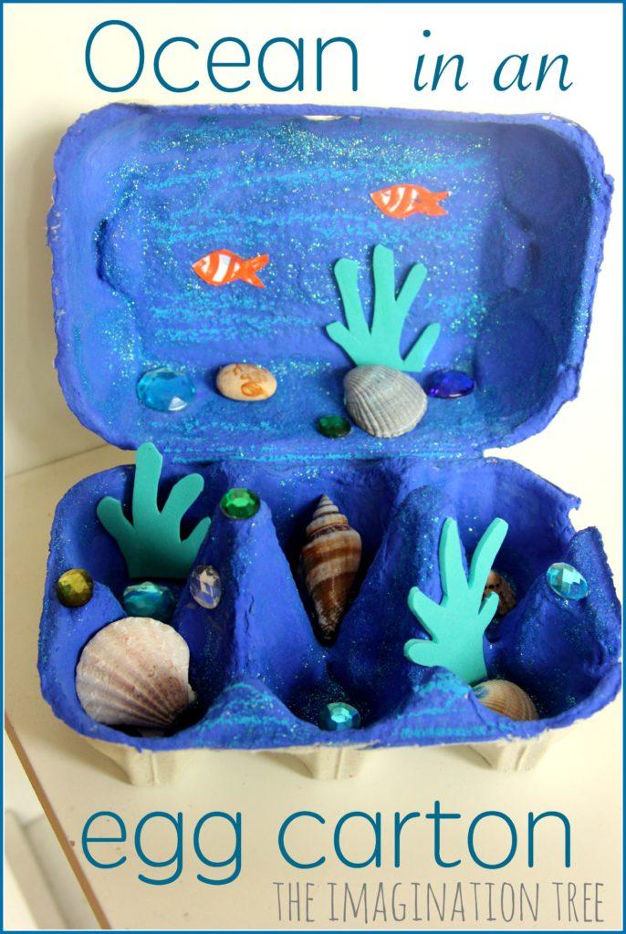 manualitats reciclatge infantil amb capses dous