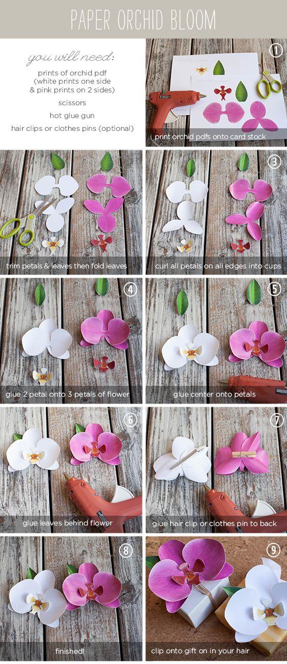 orquideas de papel