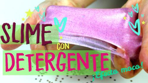 receta de slime sin borax con detergente, liquido de lentillas y pegamento