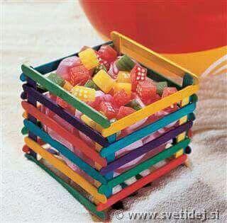Centros de mesa para fiestas infantiles con chucherias