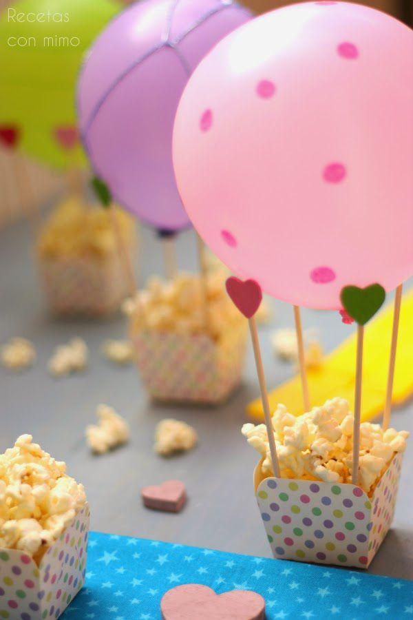 Centros de mesa para fiestas infantiles con globos