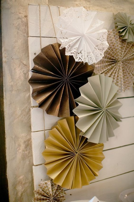 Flores de papel Vintage de pared