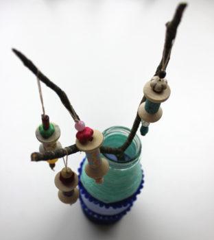 adornos para arbol de navidad con material reciclado