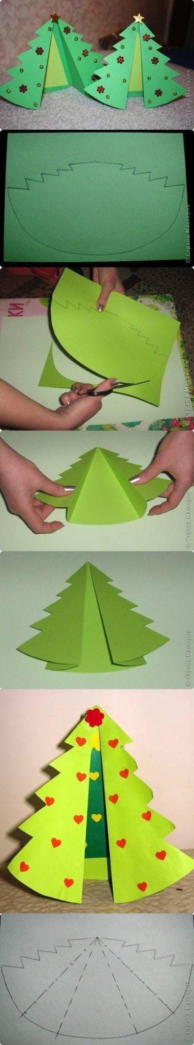 arboles de navidad infantiles con papel