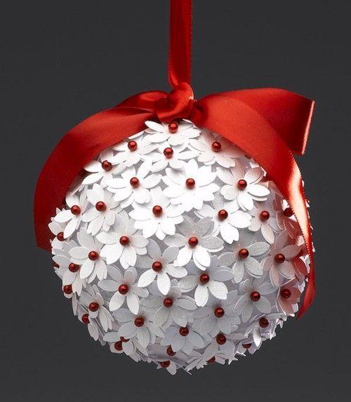 bolas de navidad de poliespan de flores