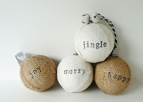 bolas de navidad de poliespan forradas con tela