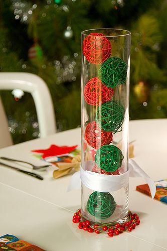 bolas navideñas de manualidades con hilo
