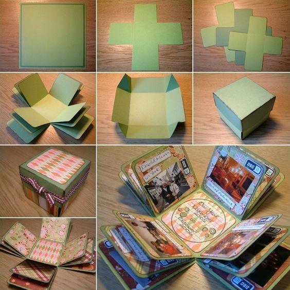 cajas de cumpleaños de scrap