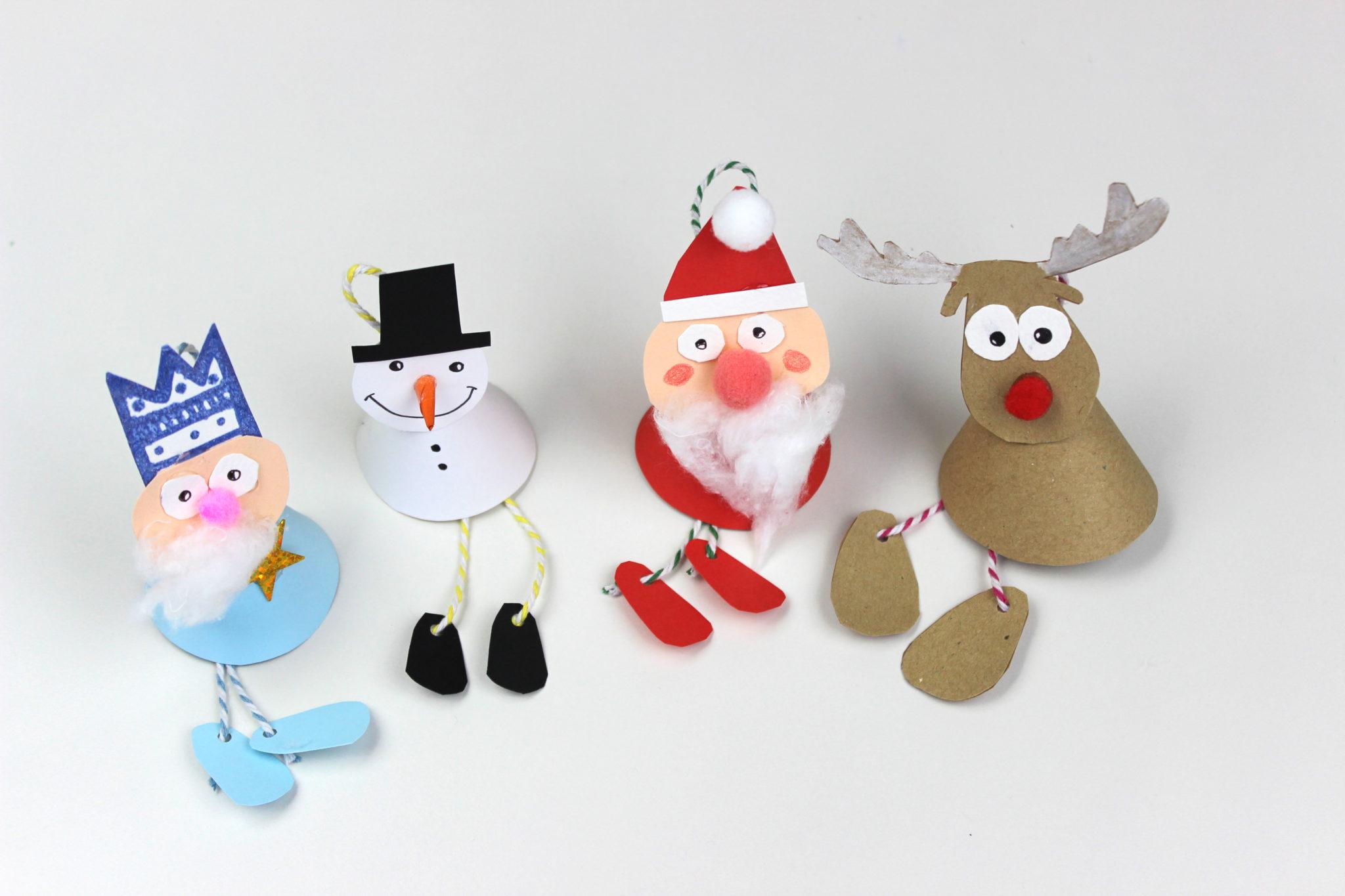 como hacer adornos de navidad en papel